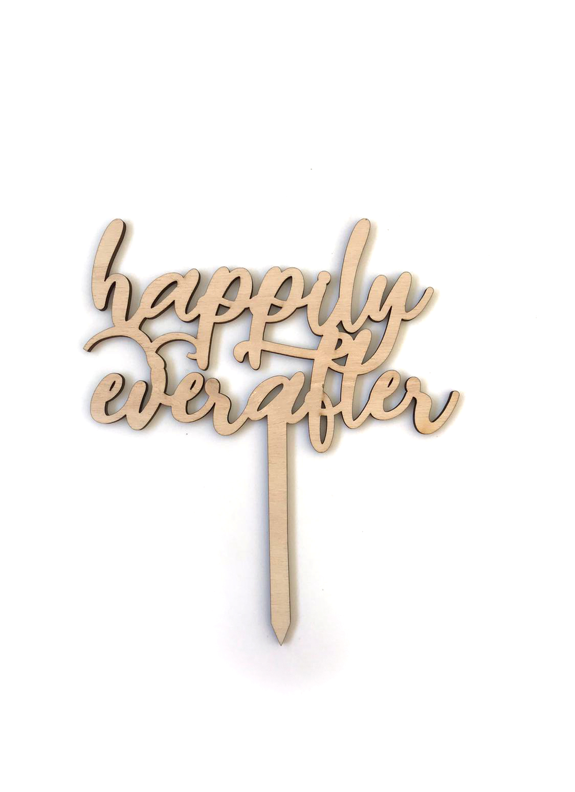 AHŞAP TOPPER-HAPPILY EVER AFTER