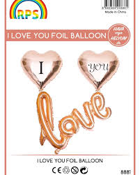 LOVE 9 LU BANTLI FOLYO BALON SET-GOLD-8881