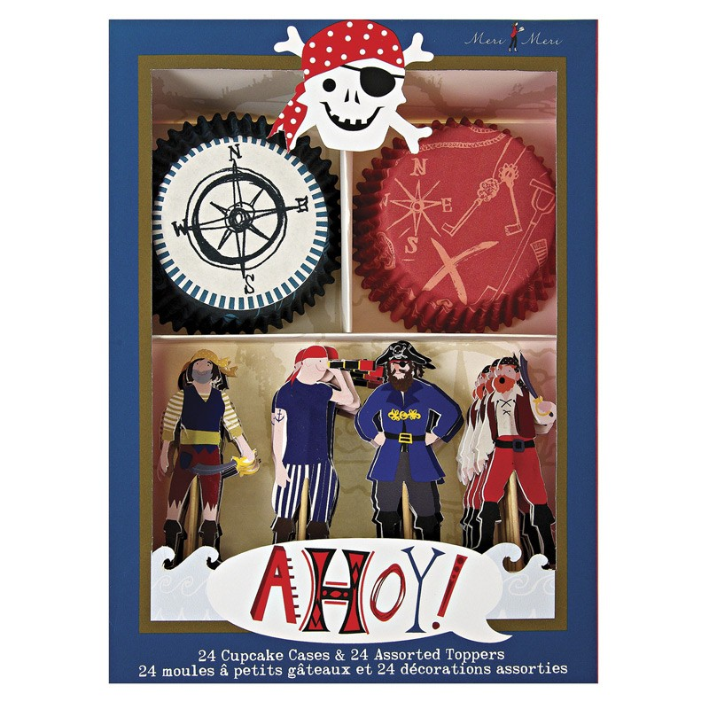 AHOY THERE KORSAN CUPCAKE VE KÜRDAN SET (45-0790)