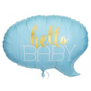 HELLO BABY İTS A BOY FOLYO BALON SET
