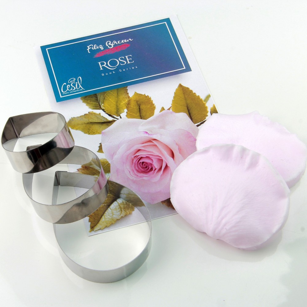 GÜL (ROSE) METAL KESİCİ ve SİLİKON SET